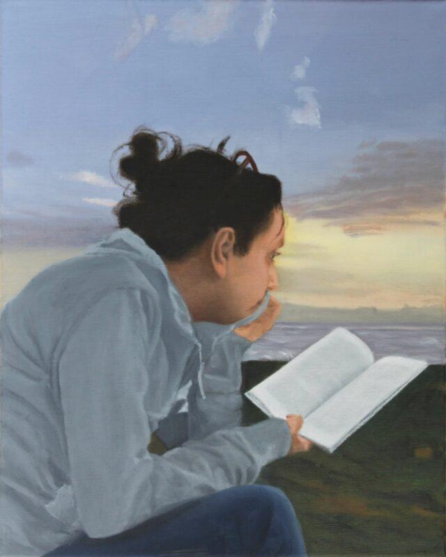 Sophie träumt, 2011, Öl auf Leinwand 40 x 50 cm von Andrea Eitel