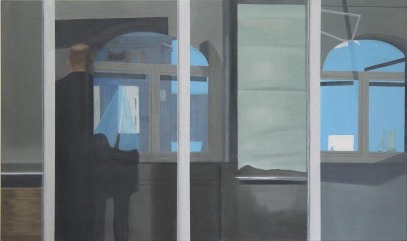 Spiegelung, 2014, Malerei von Andrea Eitel