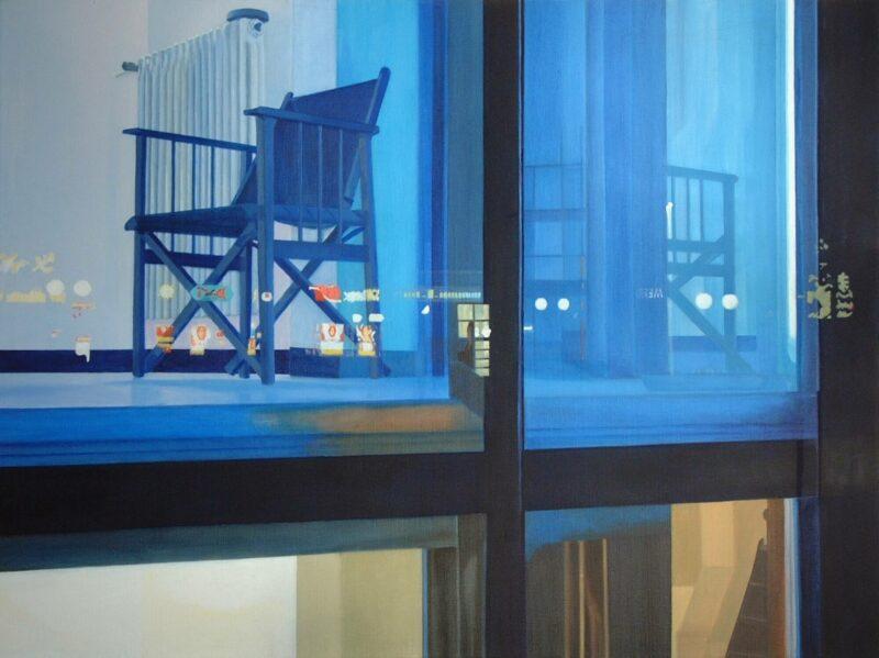 Spiegelungen, 2002, Öl auf Leinwand 90 x 120 cm von Andrea Eitel