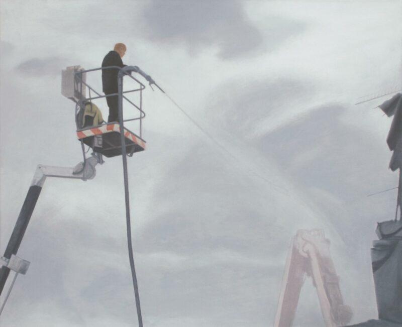 Strahl, 2008, Malerei von Andrea Eitel