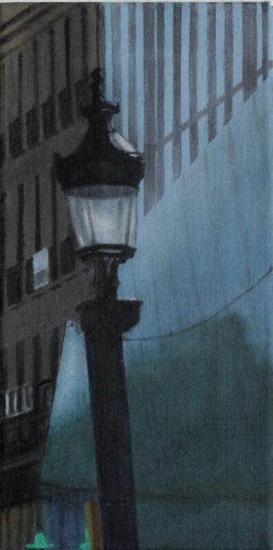 Straßenlaterne, 2019, Malerei von Andrea Eitel