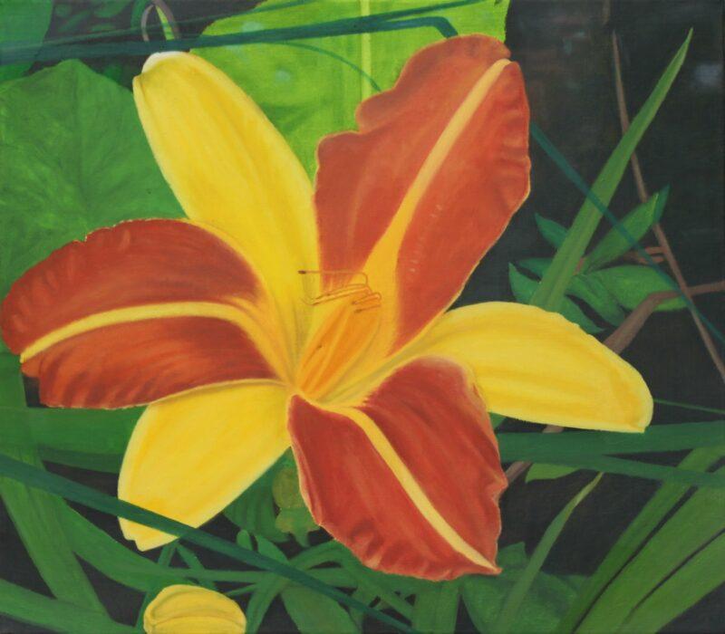Taglilie, 2018, Malerei von Andrea Eitel
