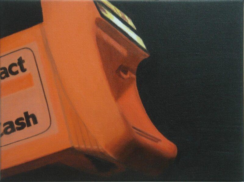 Ticketautomat, 2007, Öl auf Leinwand 30 x40 cm von Andrea Eitel