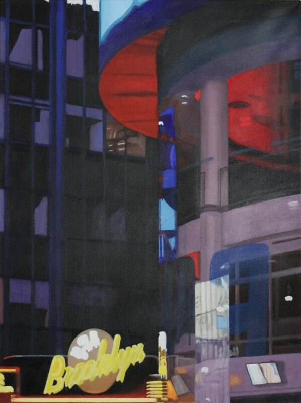 Times Square Brooklyn, 2007, Malerei von Andrea Eitel