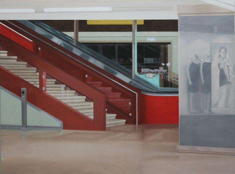 Treppe, 2005, Malerei von Andrea Eitel