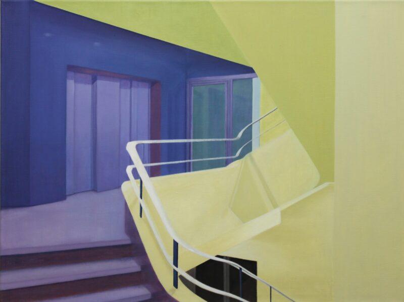 Treppenhaus, 2002, Malerei von Andrea Eitel