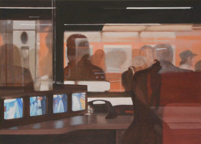 U-Bahn-Station, 2010, Malerei von Andrea Eitel