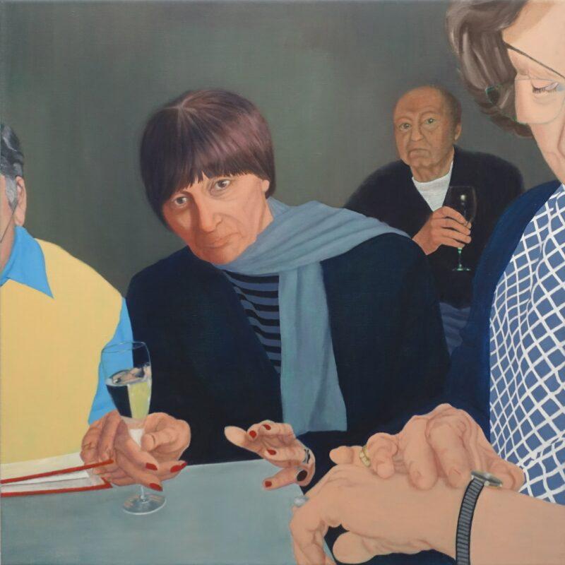 Uhr, 2000, Malerei von Andrea Eitel