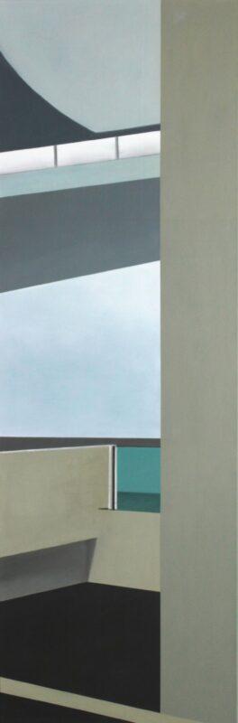 Vertikal, 2018, Malerei von Andrea Eitel