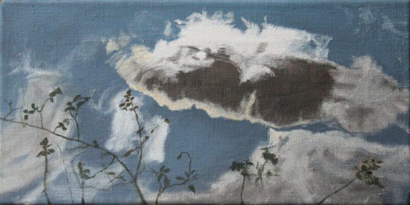 Wolken im See, 2019, Malerei von Andrea Eitel