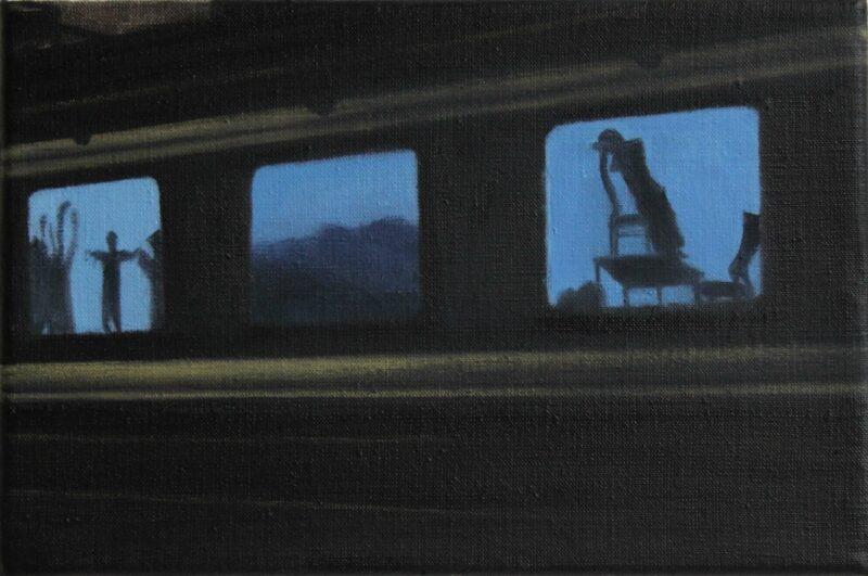 Zuggespenster, 2009, Öl auf Leinwand 20 x 30 cm von Andrea Eitel