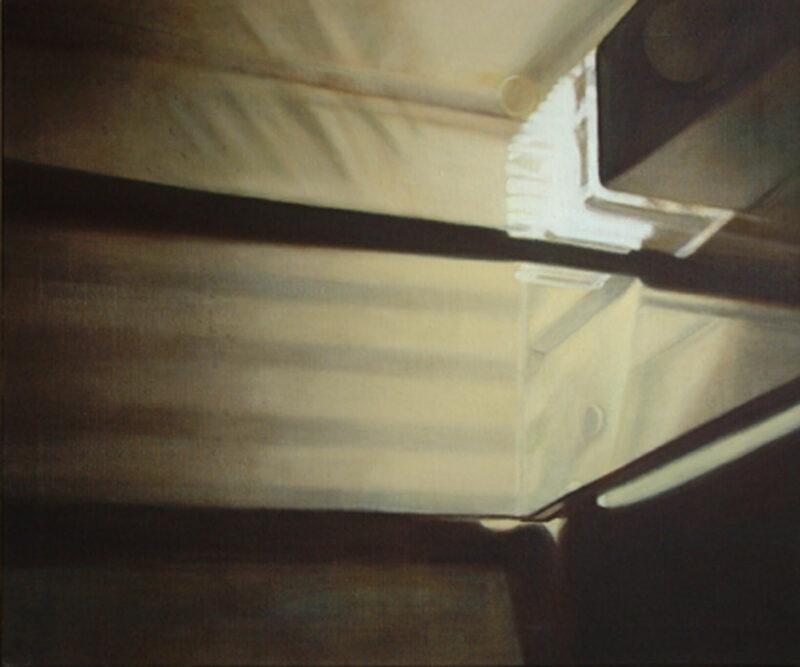 Kühlschrank, 2000, Öl auf Leinwand 100 x 120 cm von Andrea Eitel