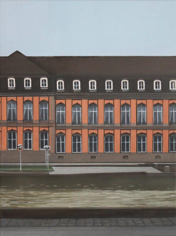 o.T. (Fassade), 2021, Öl auf Leinwand 80 x 60 cm von Andrea Eitel