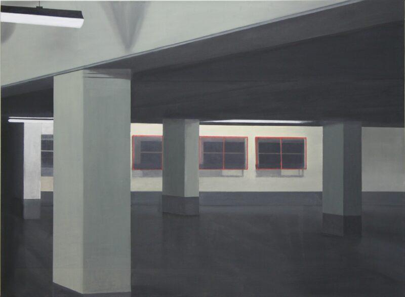 Tiefgarage, 2014, Malerei von Andrea Eitel